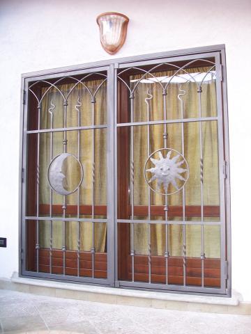Porta inferriata in ferro - Inferriata porta ...